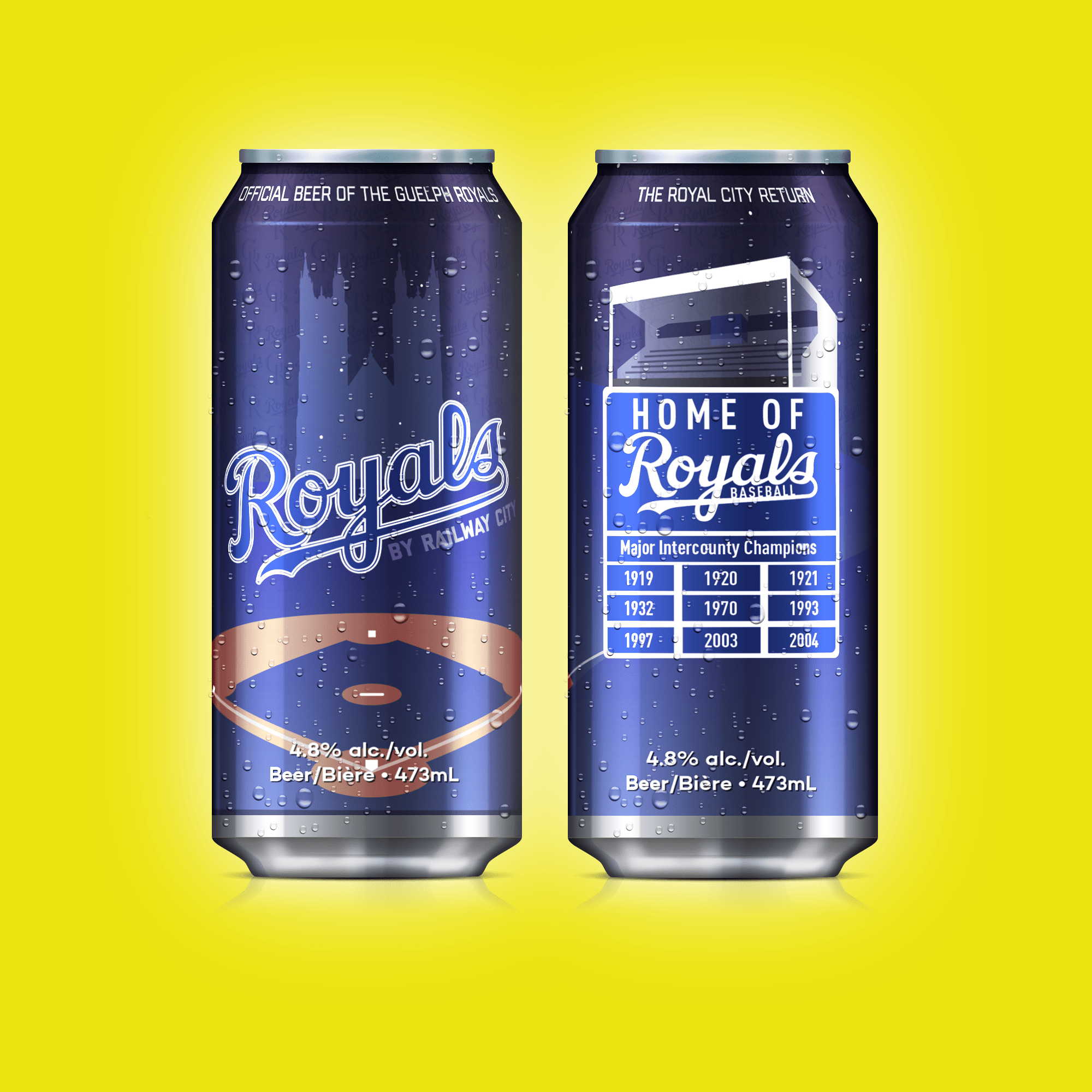 Guelph Royals Beer Can Design